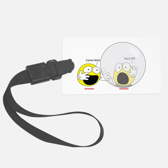 Introvert Hamster Ball Luggage Tag