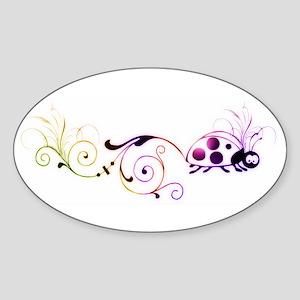 Groovy ladybug with fun tail Sticker