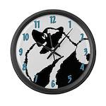 Keeshond Graphics Large Wall Clock