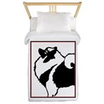 Keeshond Graphics Twin Duvet Cover