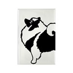 Keeshond Graphics Rectangle Magnet (100 pack)