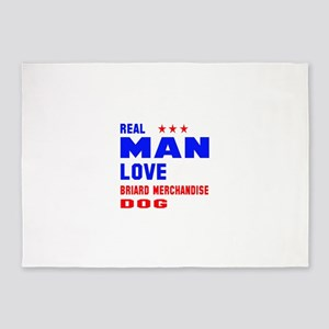 Real Man Love Briard Dog 5'x7'Area Rug