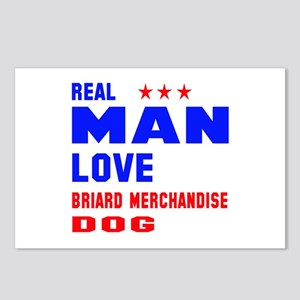 Real Man Love Briard Dog Postcards (Package of 8)