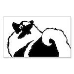 Keeshond Graphics Sticker (Rectangle)