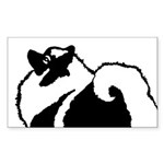 Keeshond Graphics Sticker (Rectangle 50 pk)
