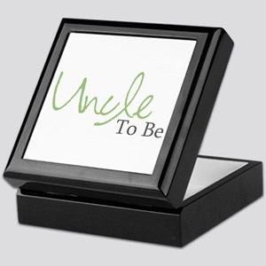 Uncle To Be (Green Script) Keepsake Box