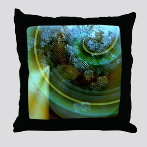 Abstract Breaking Apart Throw Pillow