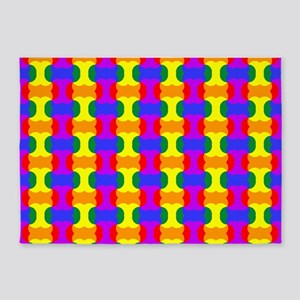Colorful Pattern 5'x7'Area Rug