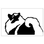 Keeshond Graphics Large Poster