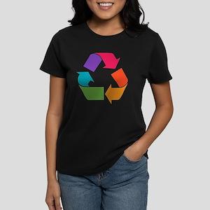 Rainbow Recycle Women's Dark T-Shirt
