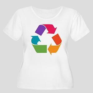 Rainbow Recyc Women's Plus Size Scoop Neck T-Shirt