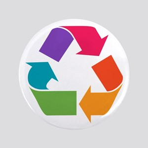 """Rainbow Recycle 3.5"""" Button"""