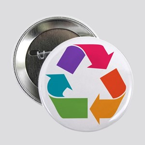 "Rainbow Recycle 2.25"" Button"