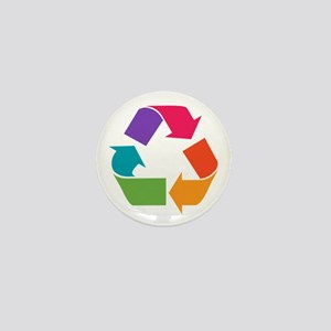 Rainbow Recycle Mini Button