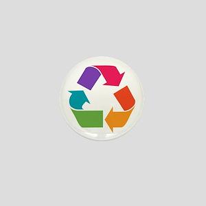 Rainbow Recycle Mini Button