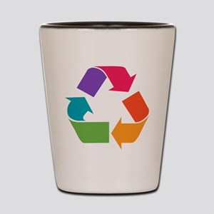 Rainbow Recycle Shot Glass