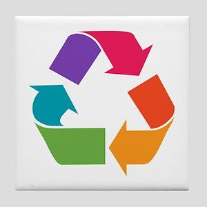 Rainbow Recycle Tile Coaster