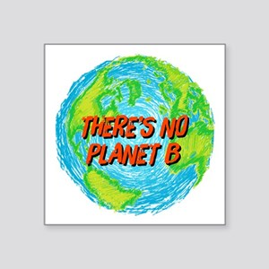 "There's No Planet B Square Sticker 3"" x 3"""