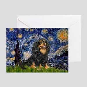 Starry Night Cavalier Greeting Cards (Pk of 10)