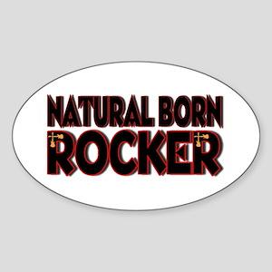Natural Born Rocker Oval Sticker