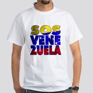 SOS Venezuela White T-Shirt