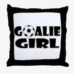 Goalie Girl - Soccer Throw Pillow