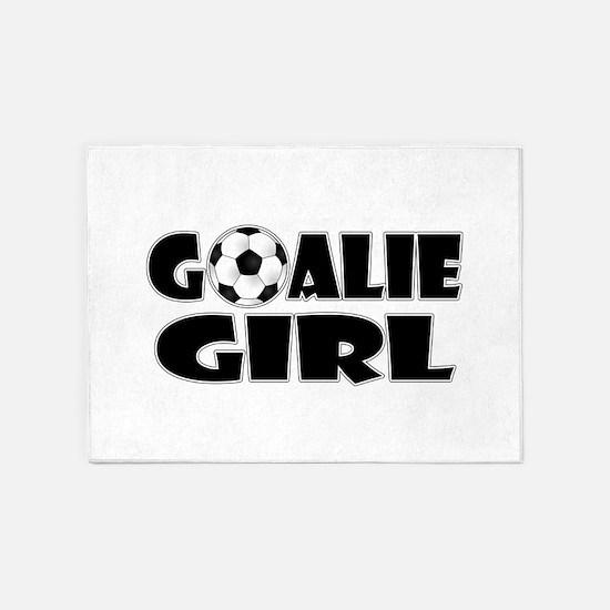Goalie Girl - Soccer 5'x7'Area Rug