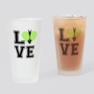 Love Cheerleading Drinking Glass