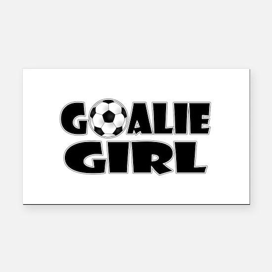 Goalie Girl - Soccer Rectangle Car Magnet