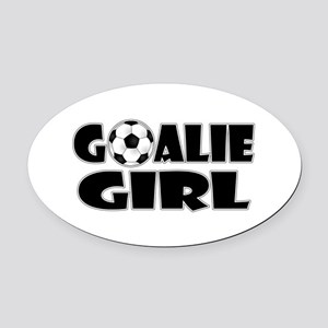 Goalie Girl - Soccer Oval Car Magnet