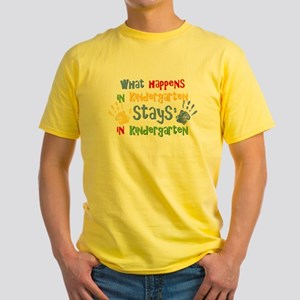 Stays In Kindergarten Yellow T-Shirt