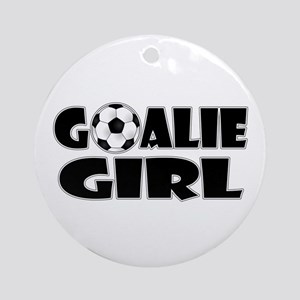 Goalie Girl - Soccer Ornament (Round)