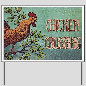 Chicken Crossing Yard Sign