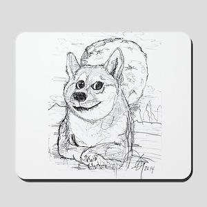 doge-moon Mousepad
