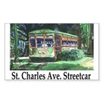 New Orleans Streetcar Rectangle Sticker
