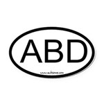 Abd Oval Car Magnet