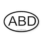 Abd Oval Car Magnet