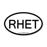 Rhet Oval Car Magnet
