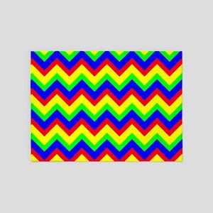 Colorful Chevron 5'x7'Area Rug