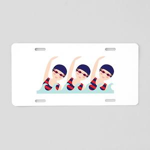 Synchronized Swimming Girls Aluminum License Plate