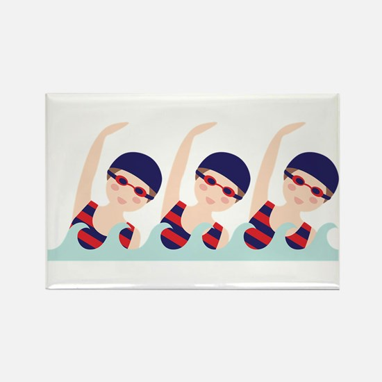 Synchronized Swimming Girls Magnets
