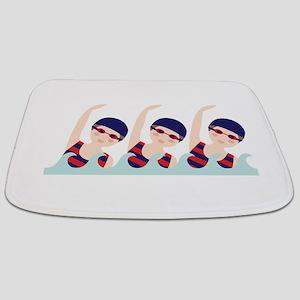 Synchronized Swimming Girls Bathmat