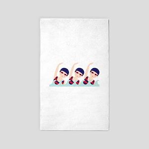 Synchronized Swimming Girls 3'x5' Area Rug