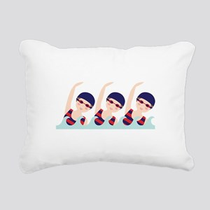 Synchronized Swimming Girls Rectangular Canvas Pil