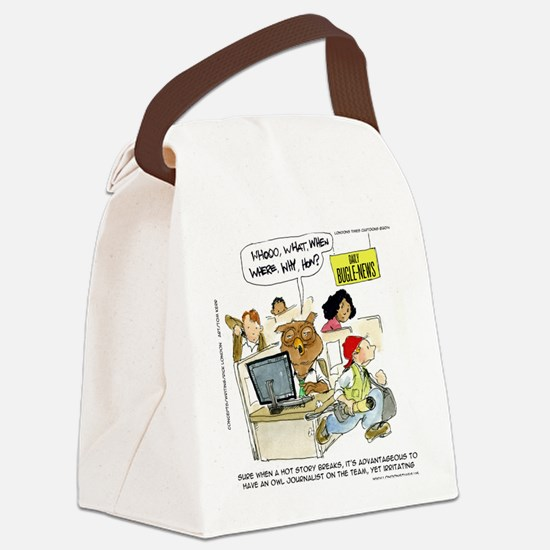 Owl Journalists Canvas Lunch Bag