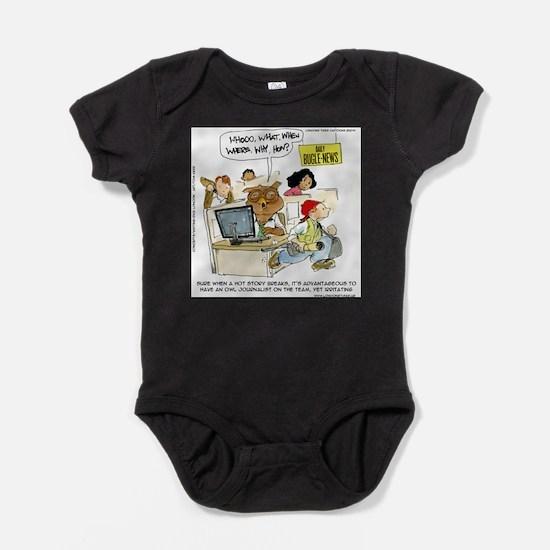 Owl Journalists Baby Bodysuit