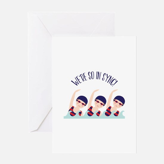 Were So in Sync Greeting Cards