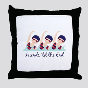 Friends til the End Throw Pillow