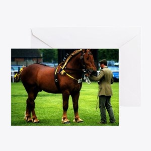 Suffolk Punch Show Off Greeting Cards