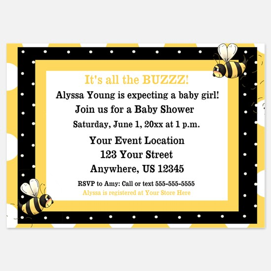 Bumble Bee Invitation Invitations